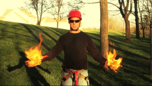 zip-line-gloves-on-fire
